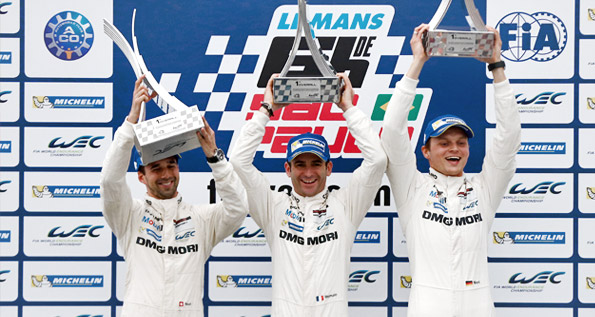 Porsche Team: Neel Jani, Romain Dumas, Marc Lieb