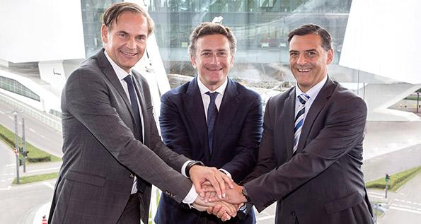 Oliver Blume, Alejandro Agag, Michael Steiner
