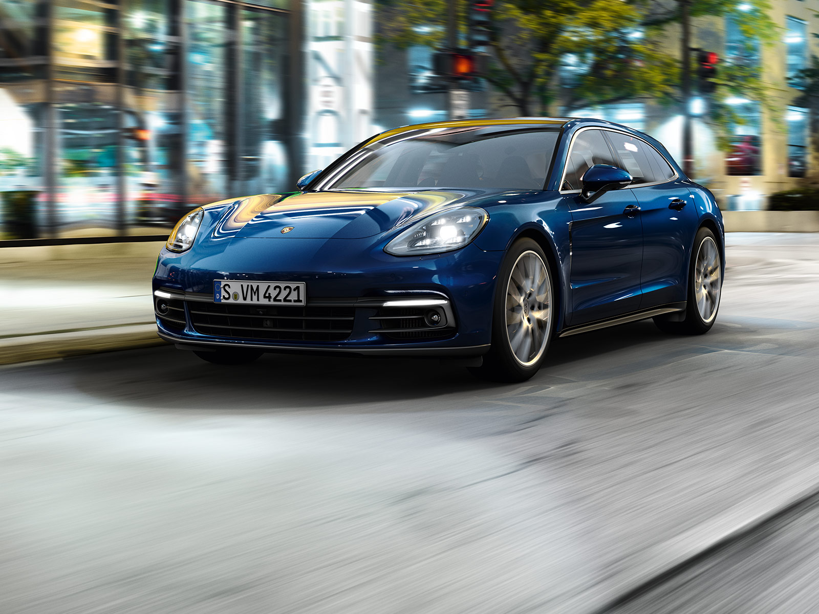 La 4e dimension.  Nouvelle Porsche Panamera.